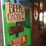 Beer Garden and Toilet (not the same thing)