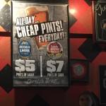 Cheap pints! Everyday!