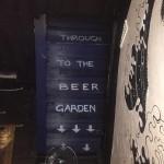 Through to the beer garden