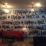 Signing the walls