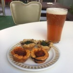 Tartlettes and a beer.