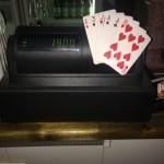 Magic cash register.